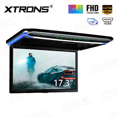 "Ceiling Car Monitor 17.3"" Inches , LCD TFT Overhead Flip Down HDMI 1080P Screen"