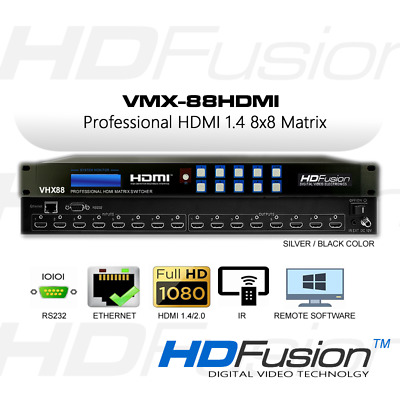 VHX-88 HDMI 8x8 Matrix Switcher 4K, Ethernet (OVP) Wettbüro Sportwetten AKTION