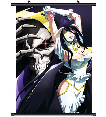 3934 Anime Albedo Overlord wall Poster Scroll