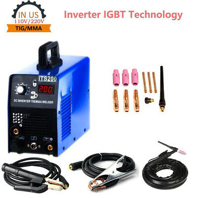 ITS200 TIG MMA Welding Machine Stainless Carbon Steel Welder 110/220V