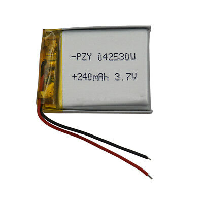 3.7V 240 mAh Polymer Li Battery For GPS Sat Nav Mp3 bluetooth headset pen 042530