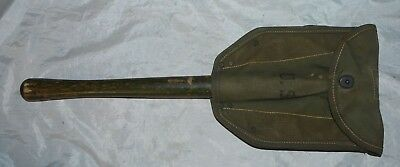 WORLD WAR II AMES 1945 US ARMY MILITARY ENTRENCHING TOOL w/ 1945 SHOVEL COVER