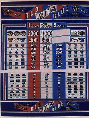 IGT S-Plus WILD STAR RED WHITE BLUE slot machine 3 coin 95 % Game & Reel set