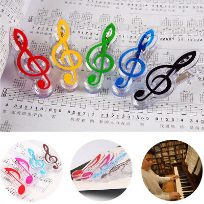1PC Plastic Music Note Page Book Clip Musical Food Bag Bookmarks Accessories