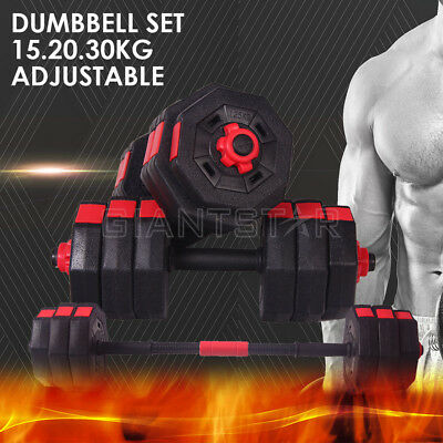 Adjustable 15/20/30KG Dumbbell Set Anti-Rolling Exercise MuscleFitness Home