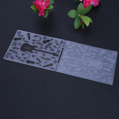 Useful Guitar Music Note Scrapbooking DIY Photo Album Embossing Folder Template