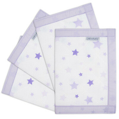 NEW The Little Linen Company - AIRWRAP 4 Sides - Star Lavender