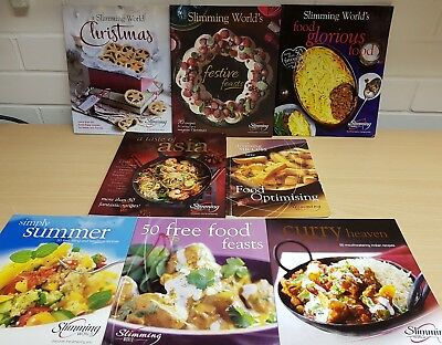 8 X Slimming World Recipe Books Bundle Christmas Festive Feasts Green Red