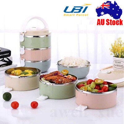 1/2/3/4 Layer Stainless Steel Thermal Insulated Bento Food Container Lunch Box