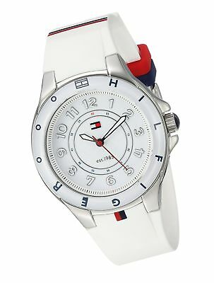 e58fe152f8c05d TOMMY HILFIGER WOMEN'S 1781271 Stainless Steel Watch with White Silicone  Band - $96.68 | PicClick