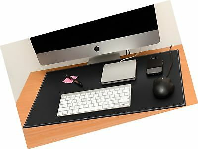 Computer Leather Desk Pad Stylish Mat Cover Reversible Color Design Black To ...