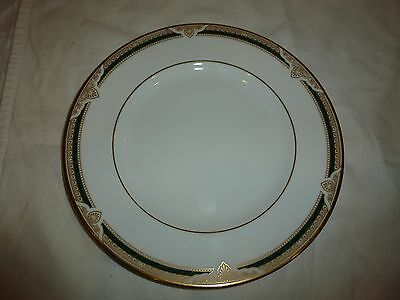 Royal Doulton Forsyth Pattern Plate, Green/Gold Tone, 8""