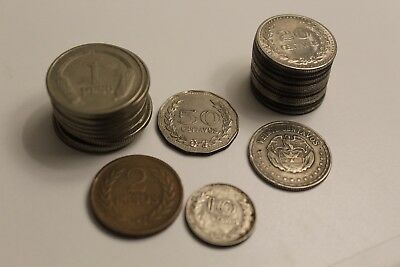 Vintage Lot 25+ 1900s Columbian Peso Coins Unique Christmas Gift, World Currency