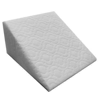 Large Acid Reflux Flex Foam Support Bed Wedge Pillow with Quilted Zip Cover