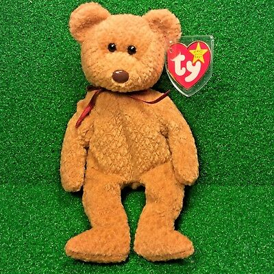MWMT Curly BEAR RETIRED Ty Beanie Baby 1993 ORIGIINAL & SUFACE Errors - NO STAMP