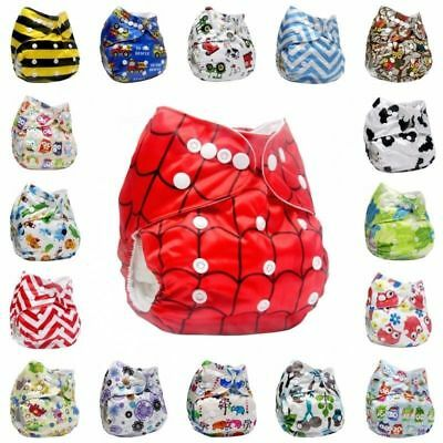 Washable Reusable Cloth Diaper Pocket Adjustable Nappy Cover Wrap Baby R9992