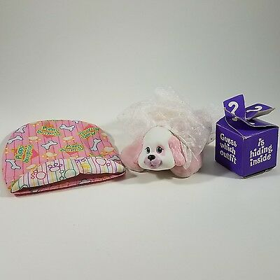 Vintage 1992 Hasbro Puppy Surprise Dress Up With Bride Outfit Sleeping Bag Box
