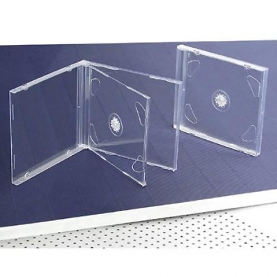 10 STANDARD Clear Double CD Jewel Case Media Storage Organizer Home Office NEW