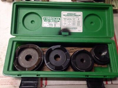 """Greenlee 7304 Counduit Knockout Punch Set for 2 1/2"""" 3"""" 3 1/2"""" 4"""" #5543 Nice!"""
