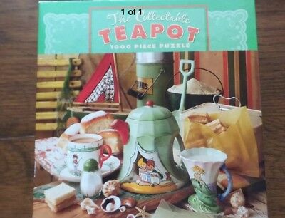 """NEW SEALED CEACO 1000 Piece Jigsaw Puzzle """"THE COLLECTABLE TEAPOT"""" 2005"""