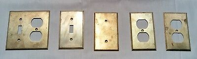 Vintage Solid Brass Power Outlet Plate Covers Light Switch Reclaimed Lot