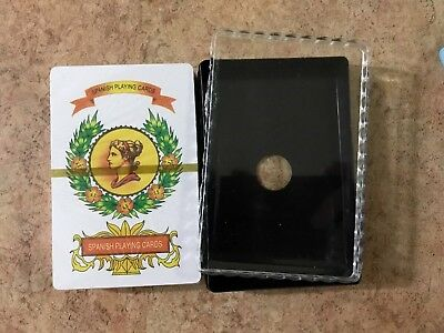 1 X Naipes plastic box new Spanish Playing Cards Baraja Espanola 50 Cards Tarot