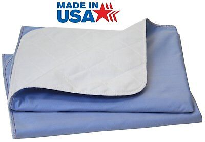 100% Cotton 36x52 bed pad Washable Reusable Incontinence Under Pad - Made in USA