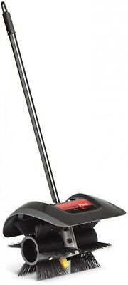 TrimmerPlus Power Sweeper Broom Attachment With 12-Inch Power Brush In Plastic
