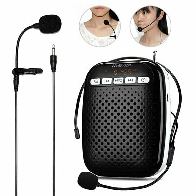 WinBridge Voice Amplifier with Headset Microphone and Lavalier Microphone Waist-