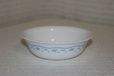 """Corelle Corning MORNING BLUE U.S.A. 6 1/4"""" Cereal Bowls (2)"""