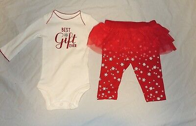 new carters baby girl first christmas outfit best gift ever sizes 3 thru 12m