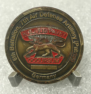 "US Army 5th BN, 7th Air Defense Artillery ""Patriot"" Germany Challenge Coin"