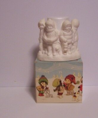 Children of the World Glow of Christmas Floral Medley Candle Avon Votive Vintage