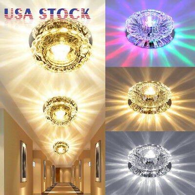 1/2/4pcs 3W 5W Chandelier Lamp Diamond LED Ceiling Light Crystal Pendant Fixture