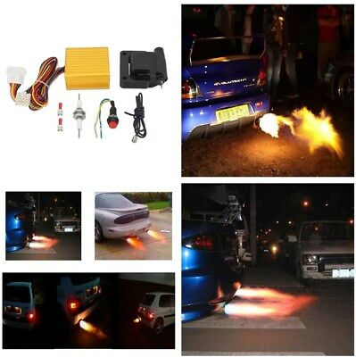 12V Car SUV ATV Exhaust Tail Pipe Flame Thrower Kit Fire Burner Afterburner Tool