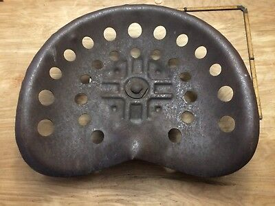 Vintage Steel Authentic Farm Tractor Seat - Great Patina!