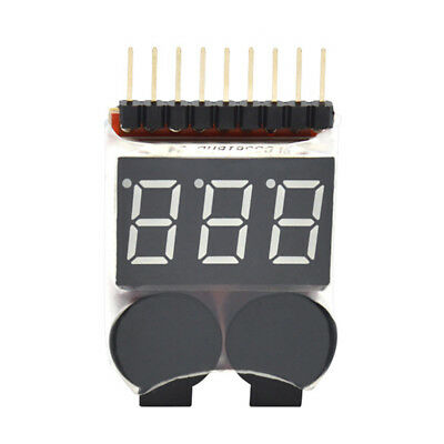 2in1 Testers Lipo Battery Low Voltage Alarm Sound Battery Voltage Checker