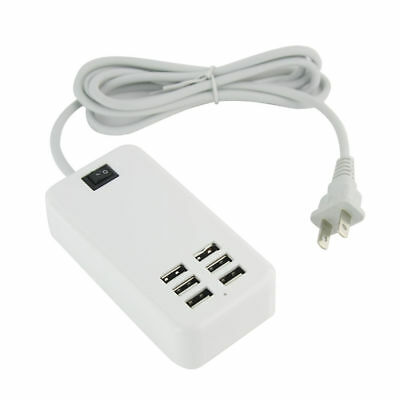 6Port Multi-function USB Wall Charger Station Power Adapter for Apple Samsung AA