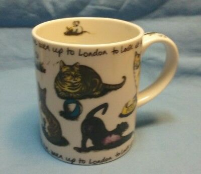 """Kit Tea Paul Cardew """"Pussy cat pussy cat where have you been..."""" Coffee Mug"""