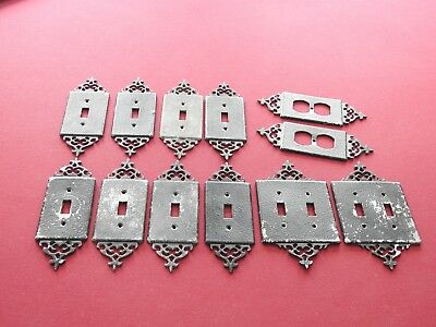 Vintage 1940s Light Switch Cover Plates -