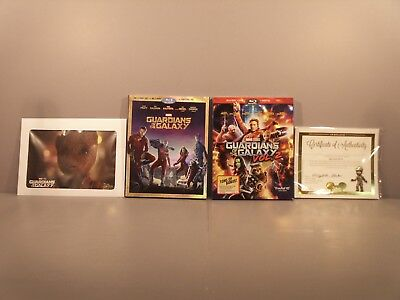 Guardians of the Galaxy Blu-ray 3D & Vol.2 Blu-ray NEW Slipcovers Baby Groot Pin
