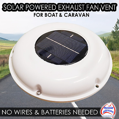 Solar Powered Caravan Boat RV Accessories Cooling Exhaust Fan Air Vent External