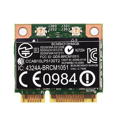 802.11a/b/g/n Bluetooth 4.0 Wlan Wireless WiFi Card w/ Mini PCI-E Slot For HP SG