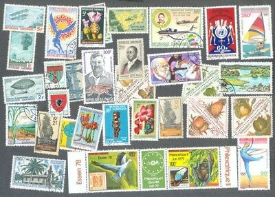 Gabon 100 all different collection -many thematics