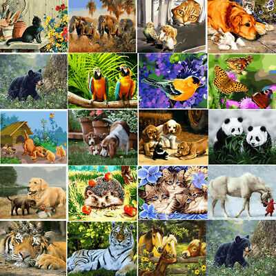 40*50CM DIY Acrylic Paint By Number Kit Oil Painting Wall Decor On Canvas Animal