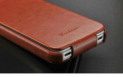 Luxury Genuine Real Leather Flip Case Cover for Apple iPhone Models