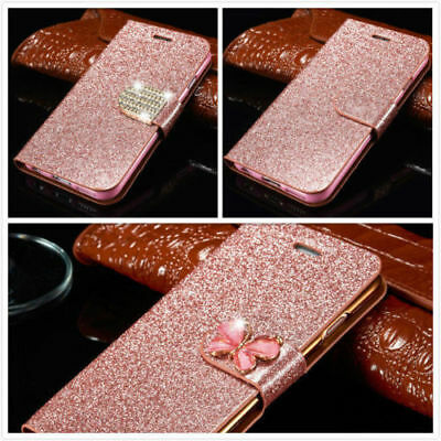 Magnetic Bling Glitter Leather Flip Case Wallet Cover For Samsung Galaxy S8 Plus