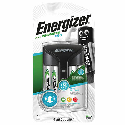 Energizer PRO Charger for AAA & AA NiMH + 4 AA 2000 mAh rechargeable batteries