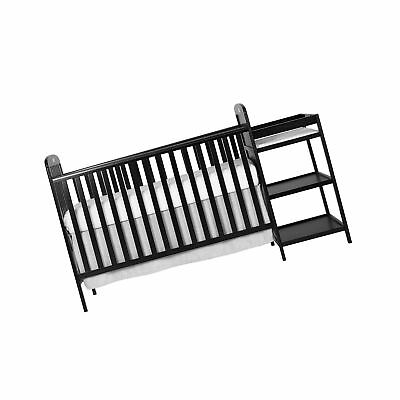Dream On Me 4 in 1 Full Size Crib and Changing Table Combo Black