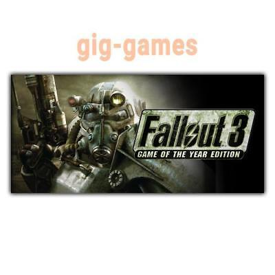 Fallout 3: Game of the Year Edition GOTY PC Steam Download Code DE/EU/USA Key